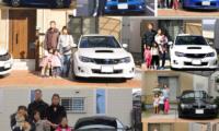 箱換えするたびに、車と家族の記念写真を撮るンです、私